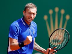 Dan Evans continued his brilliant week on the Monte-Carlo clay (Jean-Francois Badias/AP)