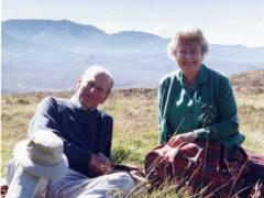 A photograph of the Queen and the Duke of Edinburgh in the Scottish Highlands was released on the eve of the duke's funeral (The Countess of Wessex/PA)