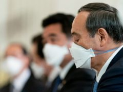 Japanese Prime Minister Yoshihide Suga has asked Pfizer for additional supplies of the Covid-19 vaccine to speed up an inoculation drive that lags behind many other countries (Andrew Harnik/AP)