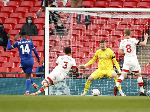 Kelechi Iheanacho, left, scored the only goal as leicester beat Southampton (John Sibley/PA)
