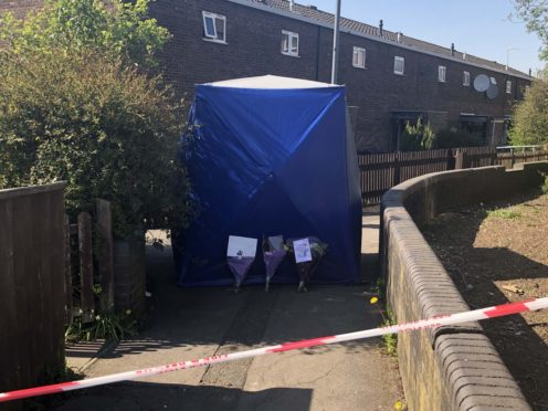 A police forensic tent in Lapworth Grove in the Balsall Heath area of Birmingham (Matthew Cooper/PA)