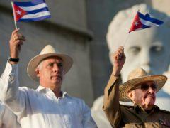 Miguel Diaz-Canel, left, and Raul Castro (Ramon Espinosa/AP)