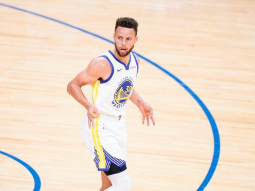 In-form Steph Curry helped the Golden State Warriors to victory over the Philadelphia 76ers (Matt Slocum/AP)