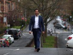Scottish Labour leader Anas Sarwar arrives in Hayburn Park, Glasgow (Andrew Milligan/PA)