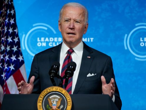Joe Biden has said this is the 'decisive decade' to curb dangerous global warming (AP Photo/Evan Vucci)