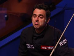 Ronnie O'Sullivan, pictured, trails Anthony McGill (George Wood/PA)