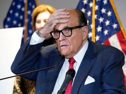 Former New York City mayor Rudy Giuliani (AP)