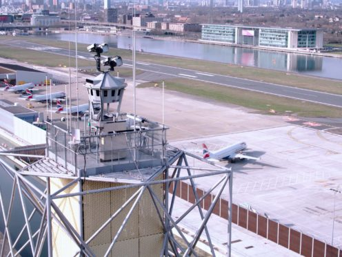 London City Airport's digital control tower (London City Airport/PA)