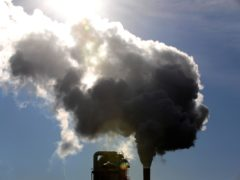 The long-term trend in rising concentrations of carbon dioxide is down to human activity, mainly through the burning of fossil fuels and also from deforestation, the Met Office said (PA)