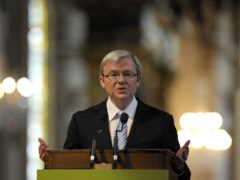 Kevin Rudd, the former prime minister of Australia (Kieran Doherty/PA)