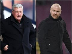 Sean Dyche, right, believes Steve Bruce is capable of dealing with the pressure he is under (Michael Steele/ Peter Powell/PA)