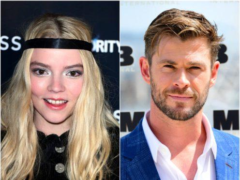 Anya Taylor-Joy and Chris Hemsworth (PA)