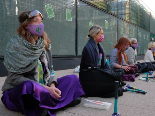 Extinction Rebellion activists targeted HSBC's London headquarters (Joao Daniel Pereira/PA)