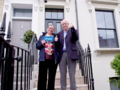 Marilyn and David Pratt have won a £3 million house in west London (Omaze)