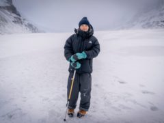 Greta Thunberg on the Athabasca Glacier in Canada (Mark Ferguson/BBC Studios/PA)