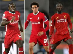 Sadio Mane, Trent Alexander-Arnold and Naby Keita were all subjected to racist abuse on social media (Paul Ellis/ Isabel Infantes/Adam Davy/PA).