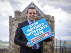 Scottish Conservative leader Douglas Ross said there is just one week left for voters to make the 'anti-referendum, pro-UK majority count' (Jane Barlow/PA)