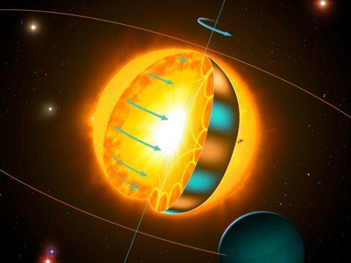 A spinning star (Mark Garlick/University of Birmingham)