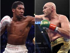 Anthony Joshua and Tyson Fury both took to social media over the weekend (PA).