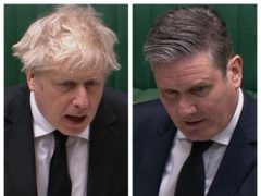Boris Johnson and Sir Keir Starmer during PMQs (House of Commons/PA)