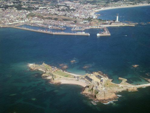 Elizabeth Castle, off St Helier in Jersey (PA)