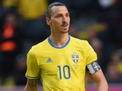 Zlatan Ibrahimovic has a knee injury (Joe Giddens/PA)