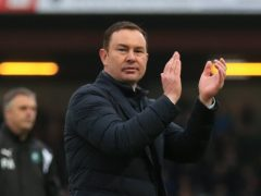 Morecambe boss Derek Adams was delighted with his team's win (Nigel French/PA)