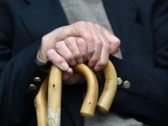 An elderly man at Rowheath House retirement home in Birmingham (Joe Giddens/PA)