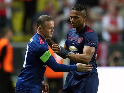 Wayne Rooney paid tribute to Antonio Valencia (Nick Potts/PA)
