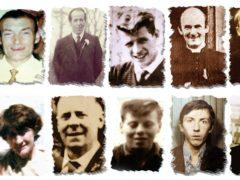 Undated Ballymurphy Massacre Committee handout file photos of the victims (Ballymurphy Massacre Committee/PA)