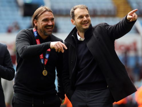 Norwich manager Daniel Farke (left) and sporting director Stuart Webber celebrated their promotion (Nigel French/PA)