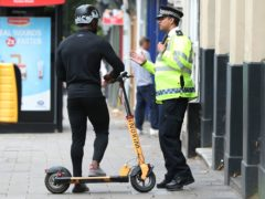 A three-year-old boy suffered serious injuries in a hit-and-run crash involving an e-scooter (Yui Mok/PA)