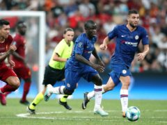 Mateo Kovacic, right, and N'Golo Kante, centre, are fit for the FA Cup final for Chelsea (Nick Potts/PA)
