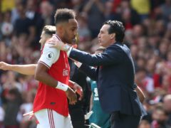 Unai Emery was full of praise for Arsenal captain Pierre-Emerick Aubameyang (Yui Mok/PA)