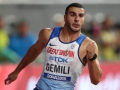 Adam Gemili competing at the 2019 World Championships in Doha (Martin Rickett/PA).
