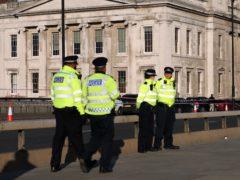 Police on London Bridge following Usman Khan's terror attack at Fishmongers' Hall (Yui Mok/PA)