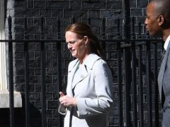 People, including nurse Jenny McGee who looked after Prime Minister Boris Johnson while he was in hospital suffering from Covid-19, arriving at 10 Downing Street, London, to attend a reception as part of the NHS birthday celebrations to salute the NHS 72nd birthday.