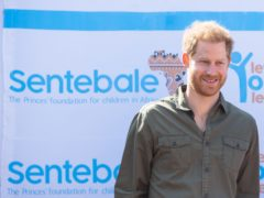The Duke of Sussex during a visit to the Kasane Health Post, run by the Sentebale charity, in Kasane, Botswana (PA)
