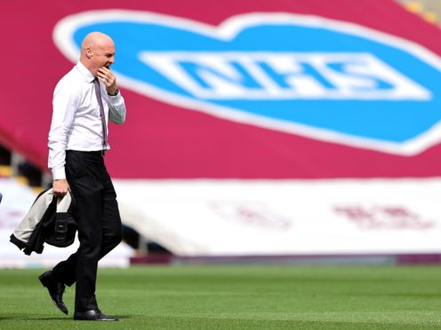 Sean Dyche hopes Turf Moor will be empty for the final time on Saturday (Richard Heathcote/PA)