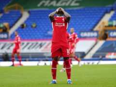 Liverpool forward Sadio Mane admits he is enduring the worst season of his career (Peter Byrne/PA)