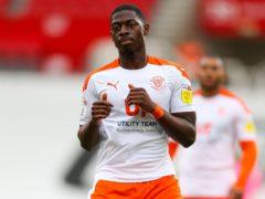 Sullay Kaikai is an injury doubt for Blackpool (Barrington Coombs/PA)