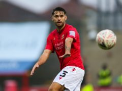 Scottish defender Stephen Hendrie will miss Morecambe's play-off tie with Tranmere (Barrington Coombs/PA)