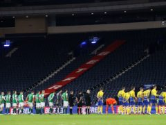 St Johnstone and Hibernian players will line up at Hampden again (Jeff Holmes/PA)