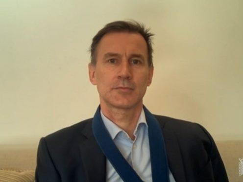 MP Jeremy Hunt (House of Commons/PA)