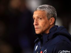 Chris Hughton felt both Preston goals should have been ruled out (Mike Egerton/PA)