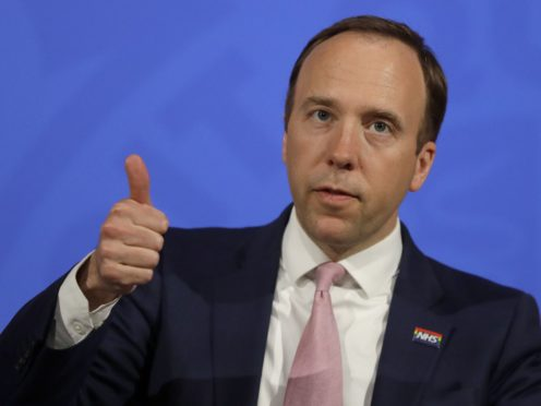 Holidaymakers who have had both doses of a coronavirus vaccine will be able to 'prove' their status to other countries, Health Secretary Matt Hancock said (Kirsty Wigglesworth/PA)