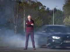 Scottish Liberal Democrat leader Willie Rennie during a visit to Ingliston Racing Circuit at the Royal Highland Centre, in Edinburgh (Jane Barlow/PA)