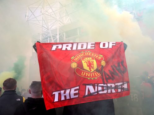 Manchester United fans protest against the Glazer family, owners of the club (Barrington Coombs/PA).