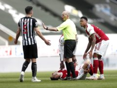 Newcastle defender Fabian Schar (left) completes his three-match ban as Sheffield United visit St James' Park (Lee Smith/PA)
