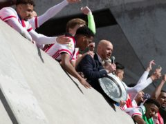 Ajax have melted down the Eredvisie trophy in order to share it with the fans (Peter Dejong/AP)
